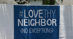 Love our neighbor mural